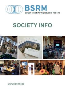 Society info brochure